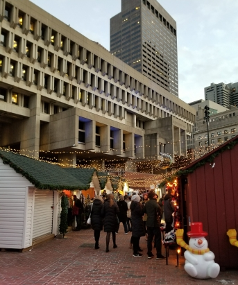 Winter Market in Boston at City Hall Plaza