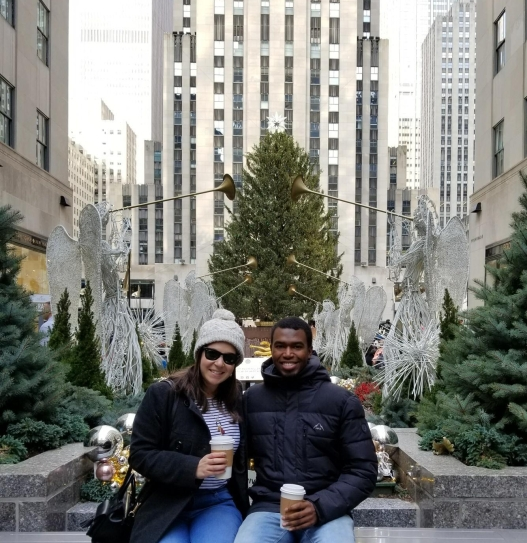 Photo 1: Phil and Sarah at Rockefeller Center