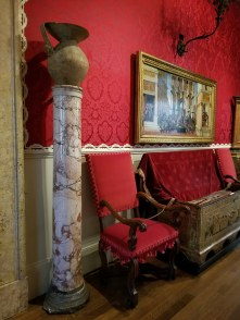 Artifacts, marble, and antique furniture in Isabella Stewart Gardner