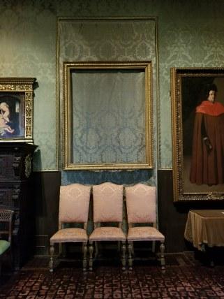 Empty frame in Isabella Stewart Gardner