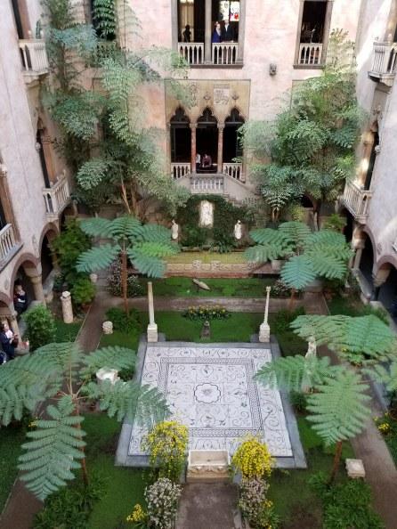 Third floor - Isabella Stewart Gardner View of Courtyard from above