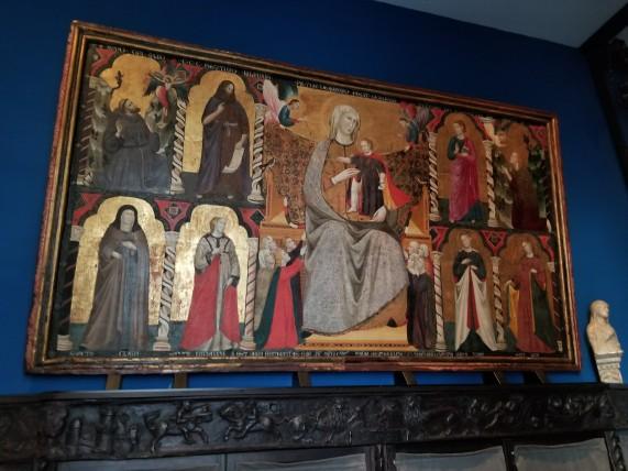 Oldest painting in Isabella Stewart Gardner in the 1300