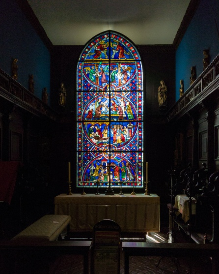 Use of light in Isabella Stewart Gardner with stained glass