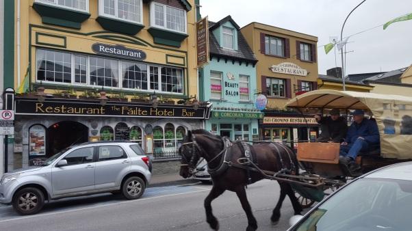 Killarney Jaunting Cars and Downtown, Killarney - County Kerry Ireland