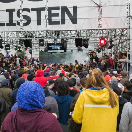 Boston Calling - The Ikea DJ booth