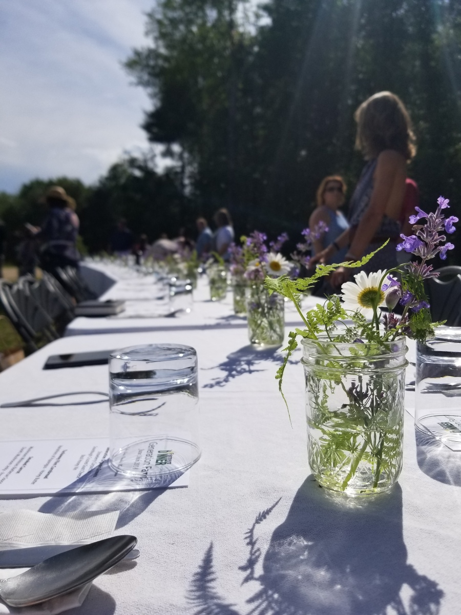 Table Scape - The Farmers Dinner Generation Farm