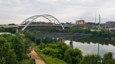 13 Not-to-Miss Experiences in Nashville, Tennessee - view from pedestrian footbridge