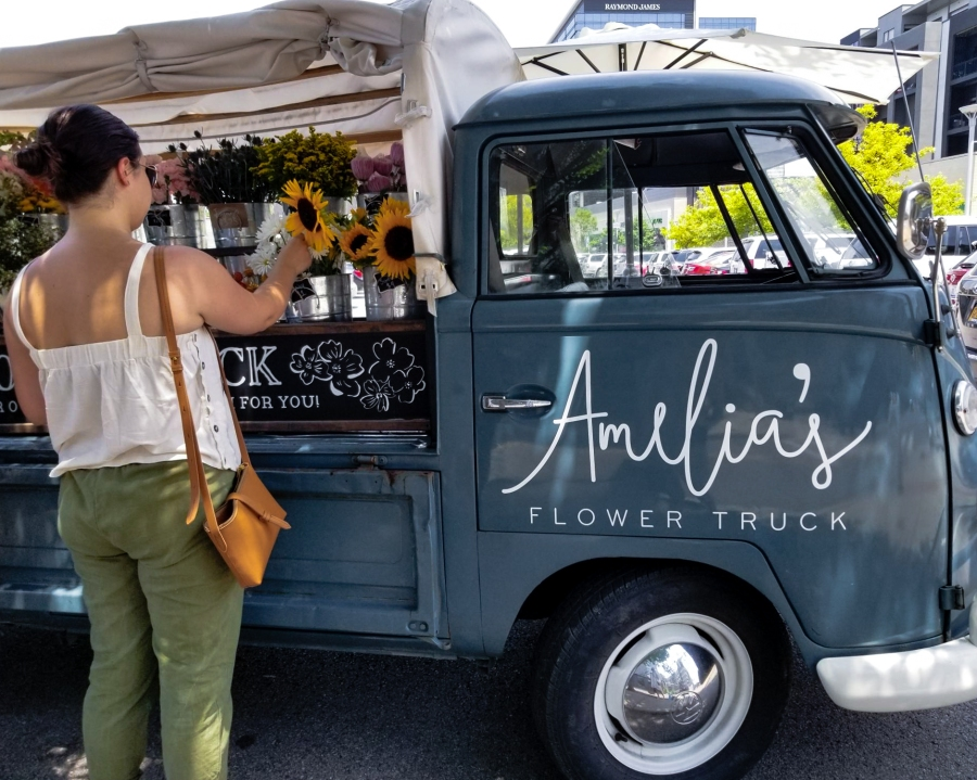 10 Fun Photos from Music City, U.S.A. - Amelia's Flower Truck in The Gulch, Nashville