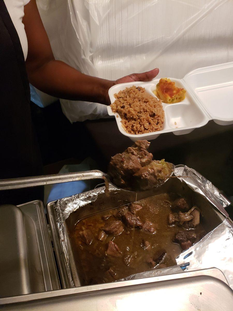 Food at Junkanoo Freeport, Grand Bahama, The Bahamas