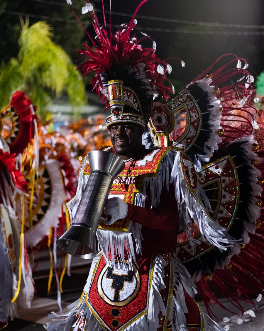 Junkanoo Percussionist Freeport Grand Bahama, The Bahamas