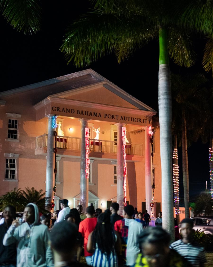 Entry to Junkanoo Freeport, Grand Bahama, The Bahamas