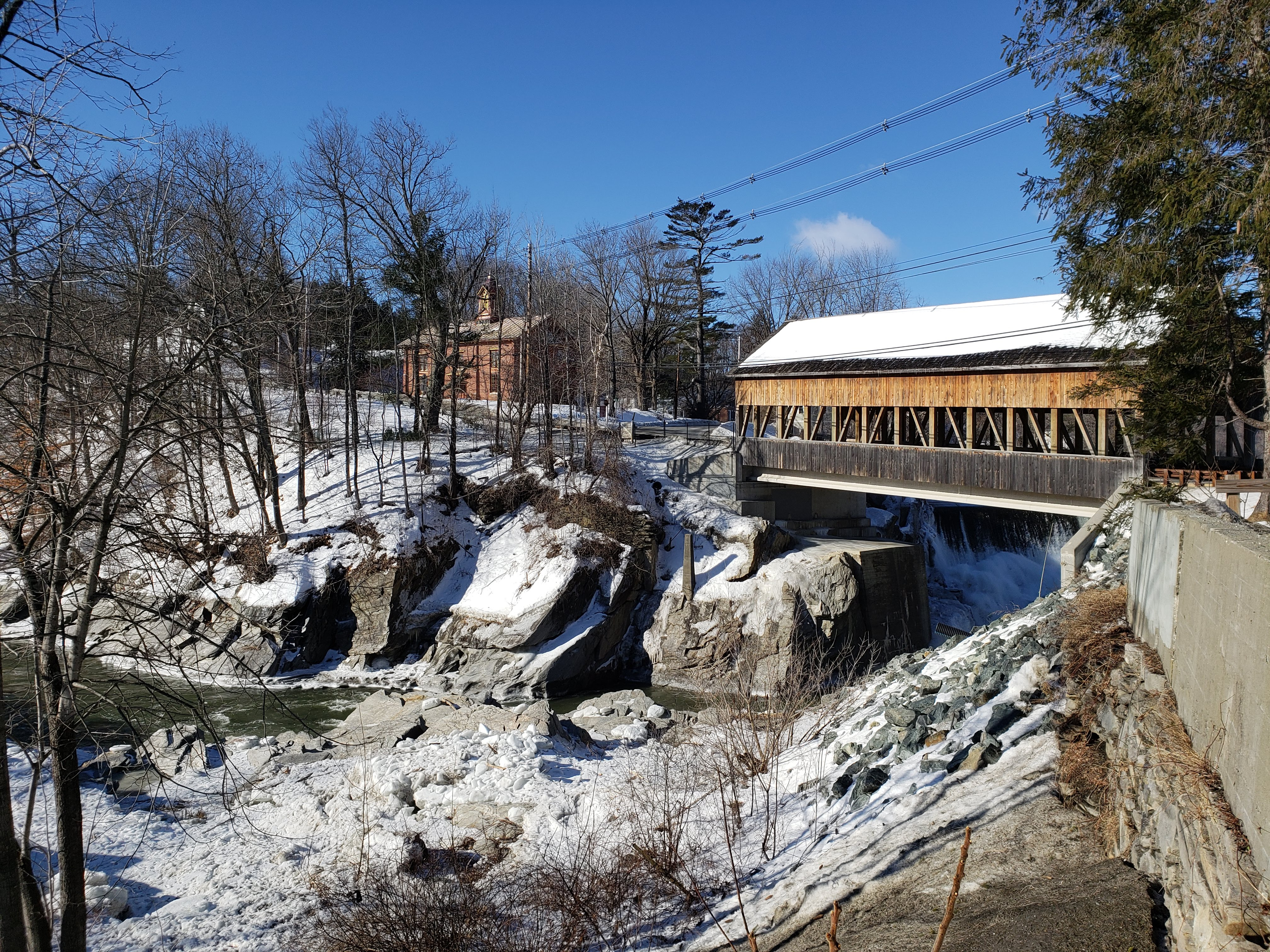 Quechee Covered Bridge in Woodstock, VT