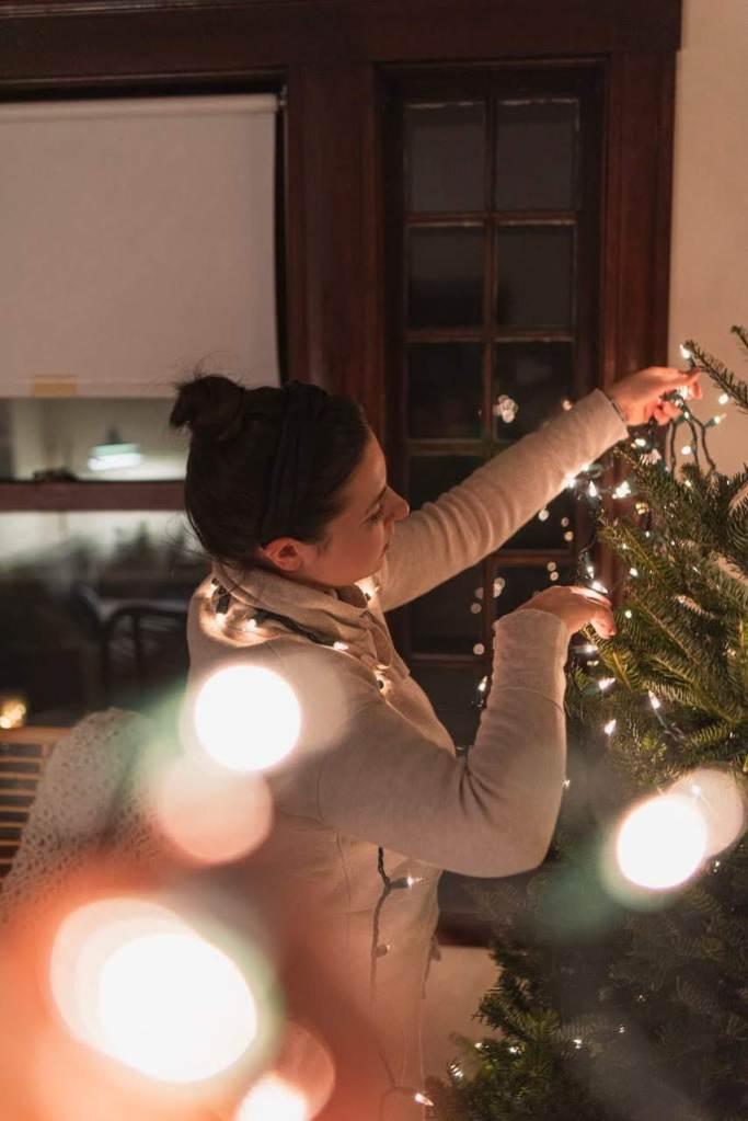 Christmas decor, lifestyle blog, holiday wreath, christmas tree